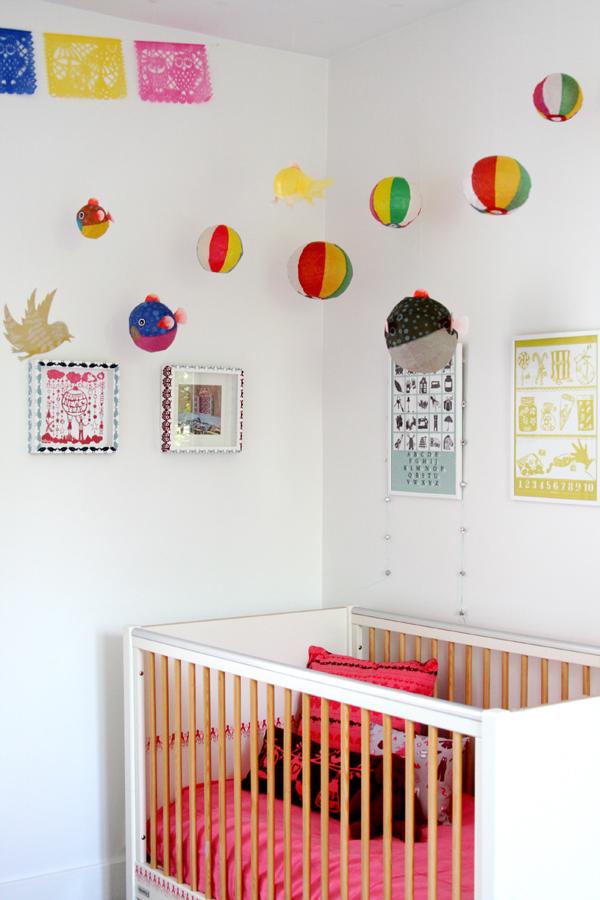 Ophelia's room, balloons