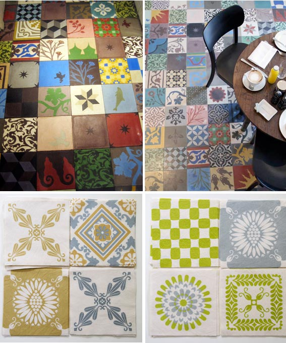 Tiles concrete