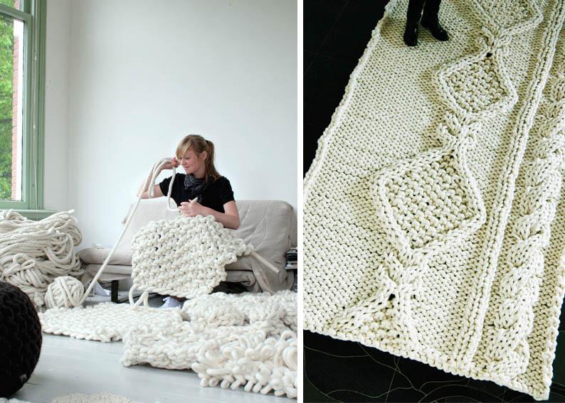XXL woolen rug - Famille Summerbelle