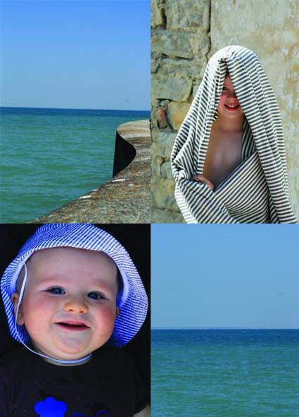 Enfants bord de mer