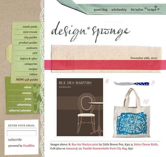 Design Sponge Paris bag