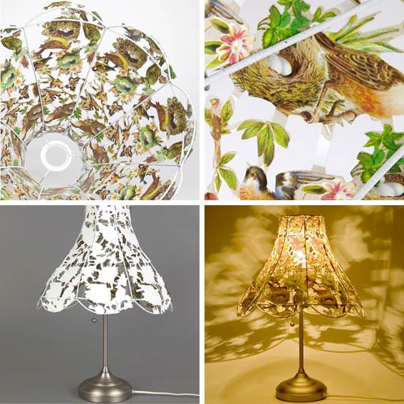 Papercut lampshade
