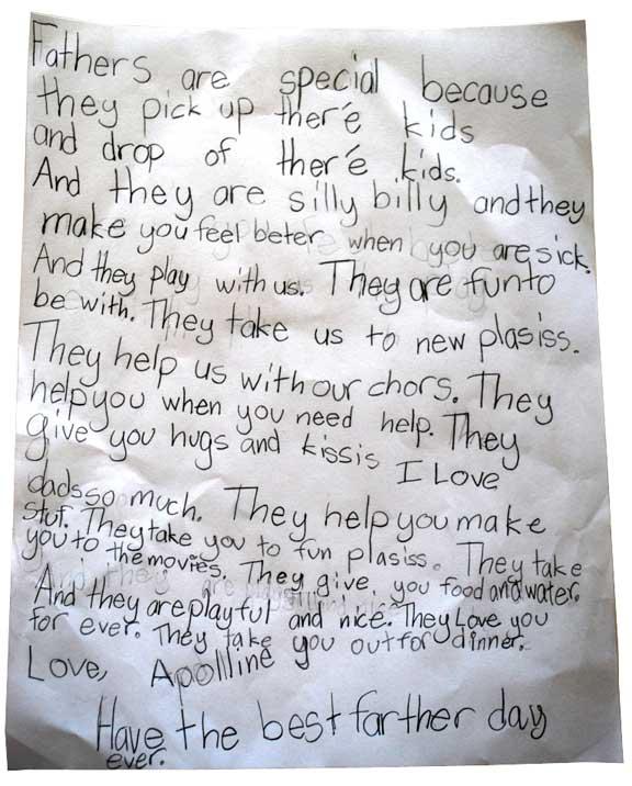 Fatherday letter Apo