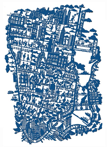 NYC map Real Living