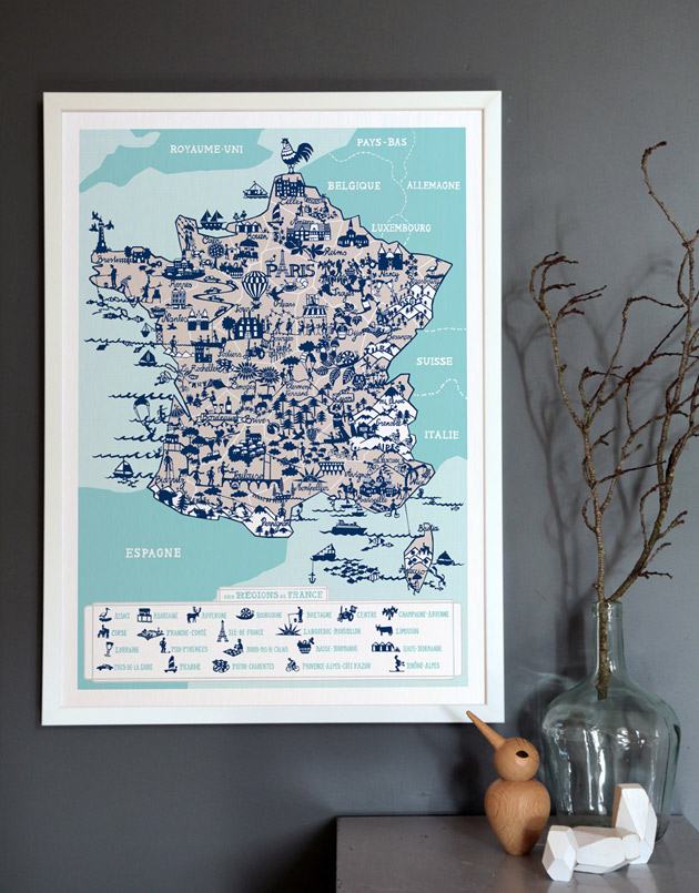 Map of France by Famille Summerbelle