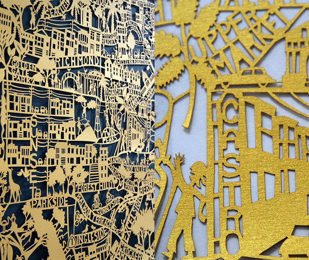 San-Francisco-Gold-paper-cuts-by-Famille-Summerbelle