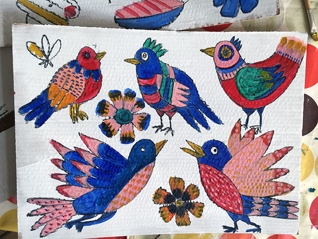 Birds-painting
