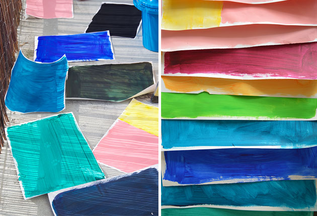 Painted-paper-sheets