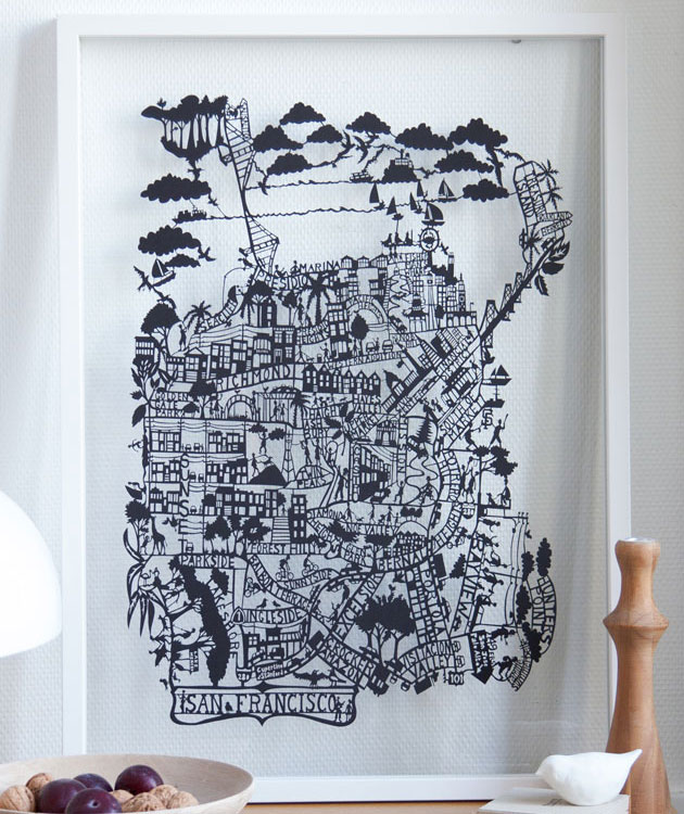 San-Francisco-Papercut-Map-closeup-by-Famille-Summerbelle