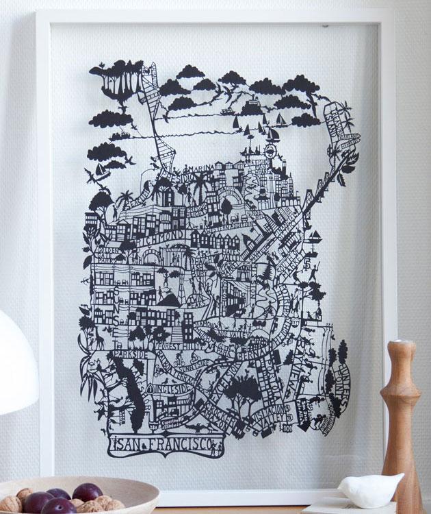 San-Francisco-Papercut-Map-closeup-by-Famille-Summerbelle