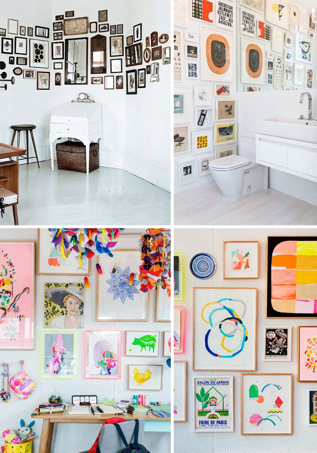 Famille Summerbelle Wall of Frames Inspiration