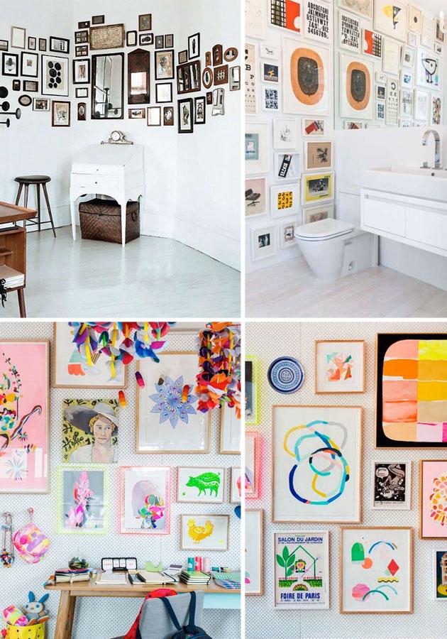Famille Summerbelle Wall of Frames Inspiration