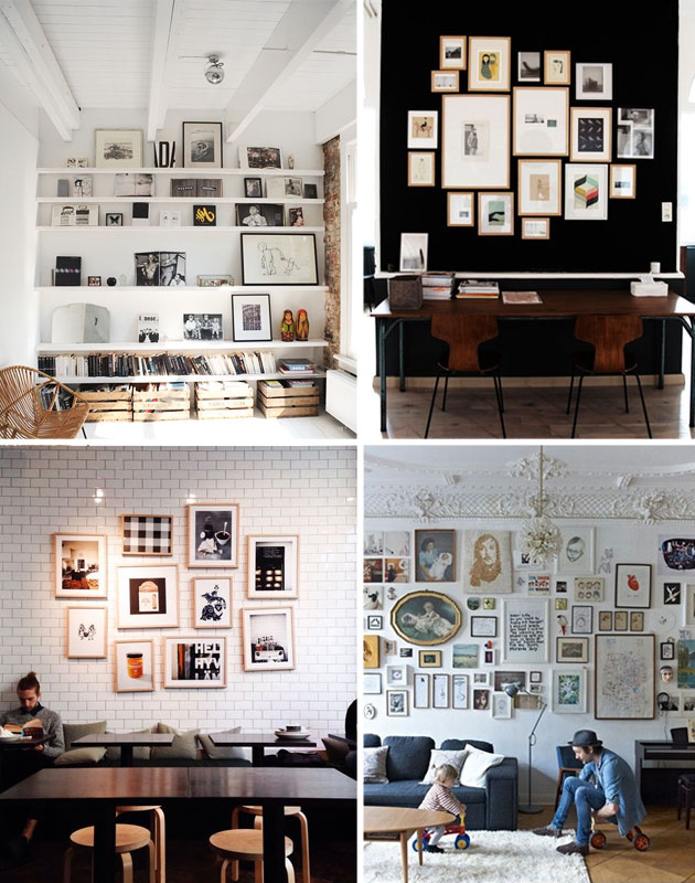 Famille Summerbelle Wall of Frames Inspiration B&W