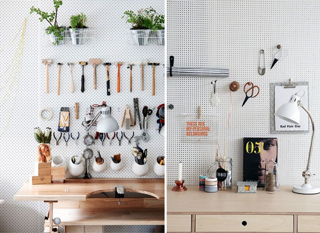 Pegboard-desk-idea
