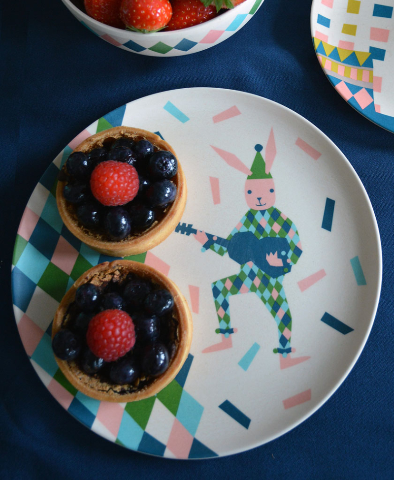 Circus-Rabbit-Plate-Set1