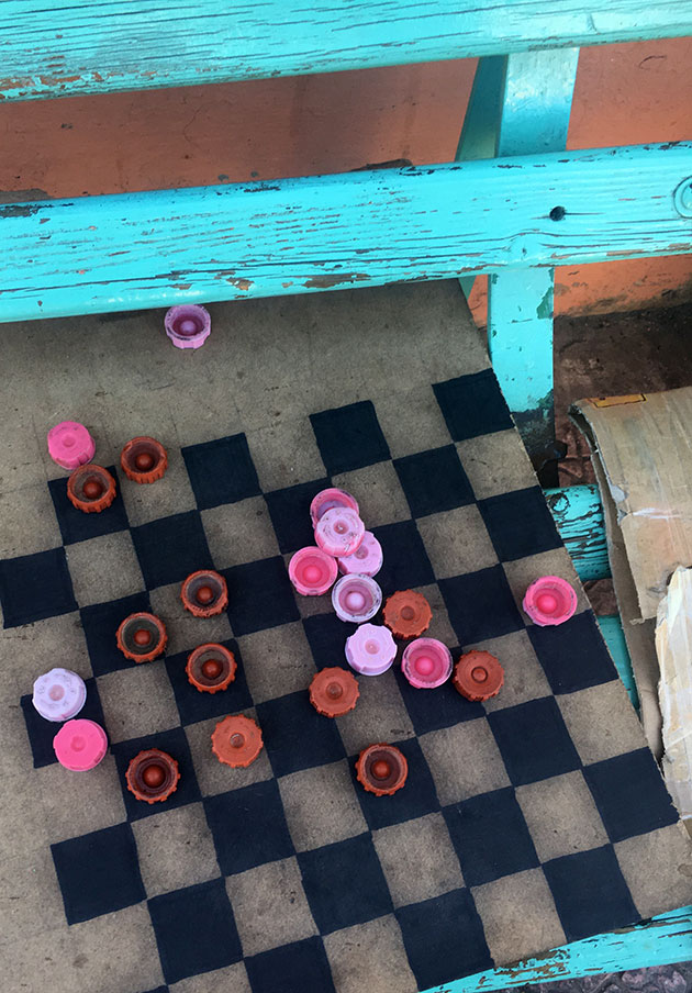 Chess-board-on-a-street-bench