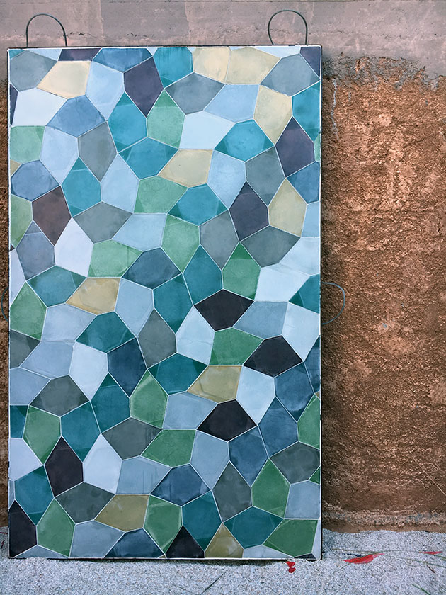 Pentagone tiles by Popham-design-showroom-Marrakech1