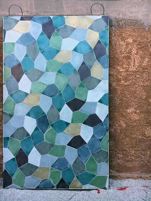Pentagone tiles by Popham-design-showroom-Marrakech1
