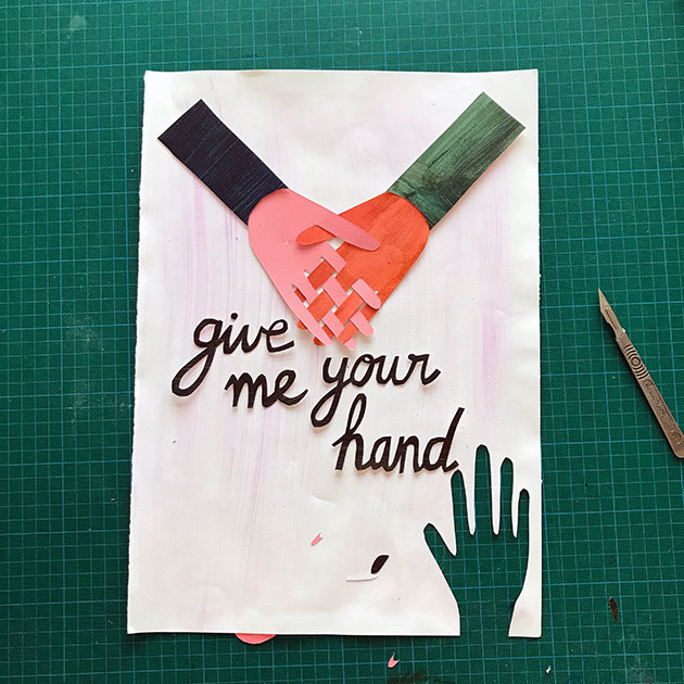Give-me-your-hand-paper-cut-by-Famille-Summerbelle1