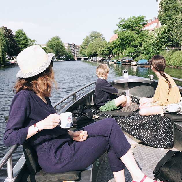Canal-boat-Amsterdam