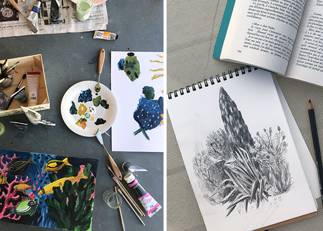 Drawing-and-Painting-on-holidays
