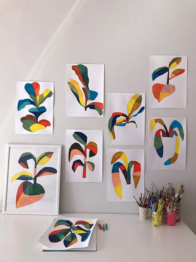 Plants-painting-by-Julie-Marabelle--Famille-Summerbelle