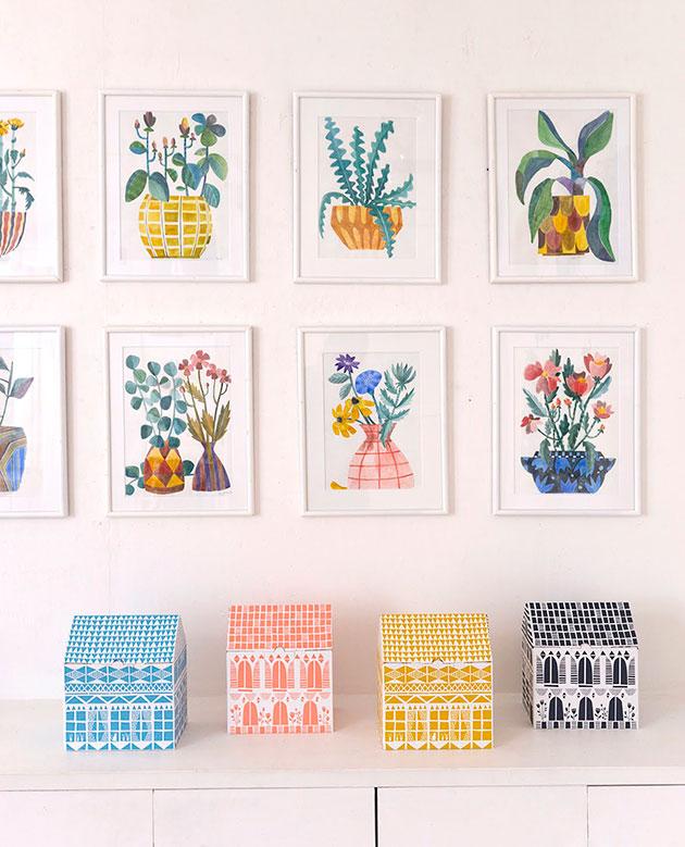 FS-exhibition-Tokyo-Galerie-Doux-Dimanche-House-Boxes-&-watercolours