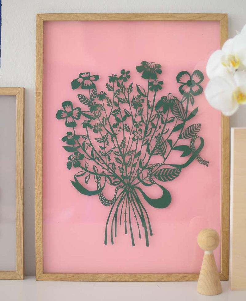 Bouquet_Green_Framed