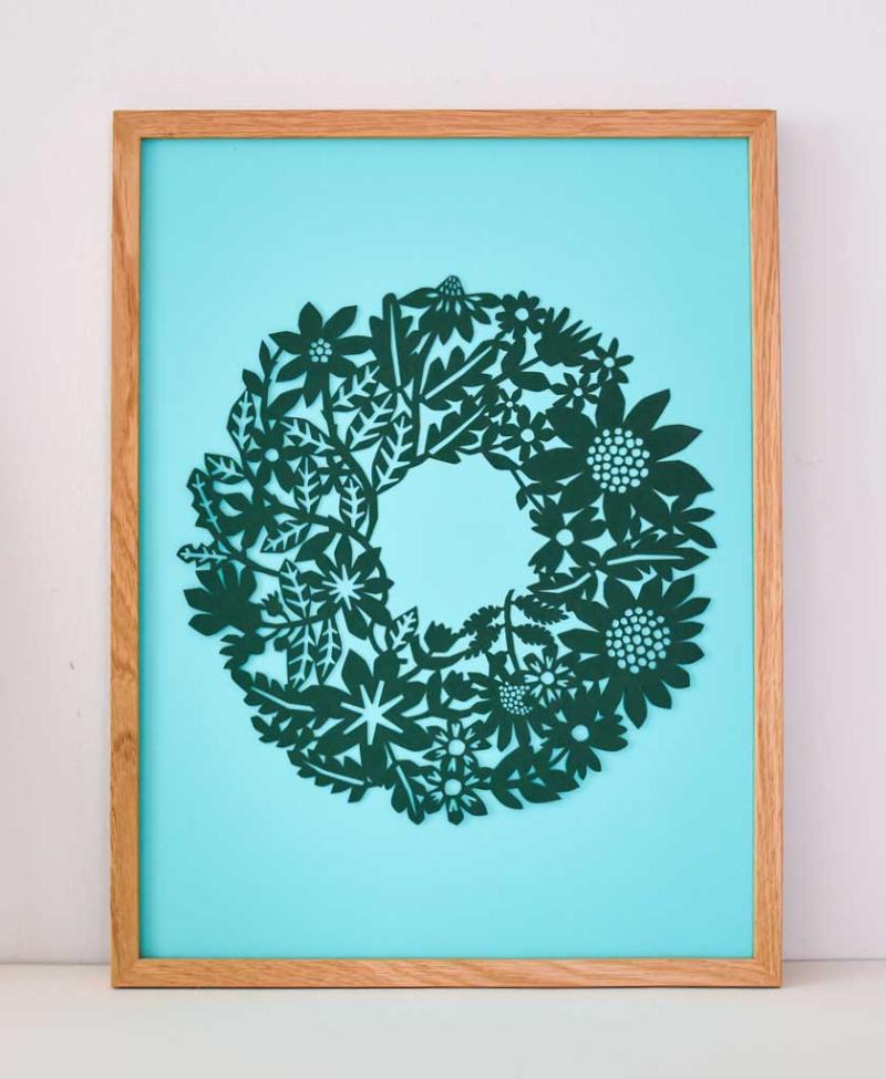 Flower_Wreath_Framed_Coloured